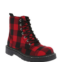 Anarchic By T.U.K. Black And Red Buffalo Check Boots