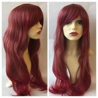 Red Riding Hood, Red Ombre Dip Dye Gradient Gothic Lolita Cosplay Wig