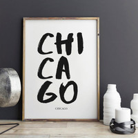 Chicago Print, Poster for office decor, gifts, work desk, city prints, Chicago city Prints, art, Wall Art, Art