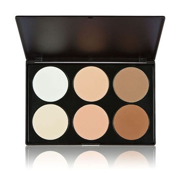 Professional 6 Color Pressed Powder Palette Nude Makeup Contour Cosmetic  and New Professional 15 Color Camouflage Concealer Make Up Cream Palette