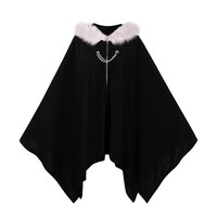 Sisjuly  Gothic Cloaks  Black Women Winter Outwear Coats Bat Trench Fashion Poncho Witch Vampire Harajuku Goth Cloaks