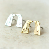 Penguin Earrings / choose your color, gold and silver