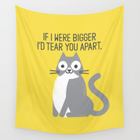 Purrfectly Honest Wall Tapestry by David Olenick