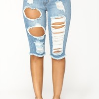 Lost At Sea Shorts - Light Blue