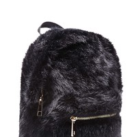 Faux Fur Mini Backpack