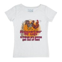 Rooster It Up & Things Are Gonna Get Out Of Hen-White T-Shirt