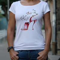 Women t-shirt, Fashion shoes, Designer t-shirt, Funny t shirt, Top, Feminist t-shirts, Picture print, Fashion is my life