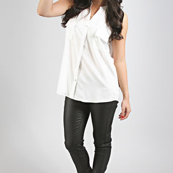 keep it profesh button blouse - ivory