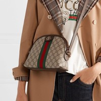 Gucci Ophidia Leather-trimmed Printed Coated-canvas Shoulder Bag #1583