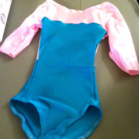 Pink and Turquoise Leotard