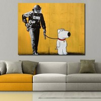 JQHYART Pop Art Wall Decor Poster On The Wall Pictures Of Brian Oil Painting Canvas For Living Room No Frame