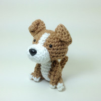 Plush Toy Pit Bull American Stafford Terrier Amigurumi Dog Handmade Crochet Puppy Stuffed Animal Doll / Made to Order