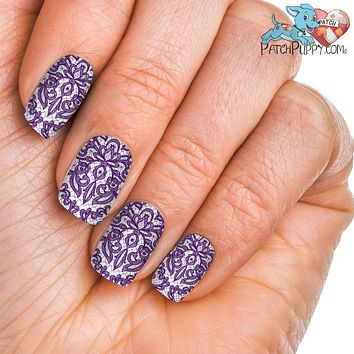 Lace Purple Nail wraps