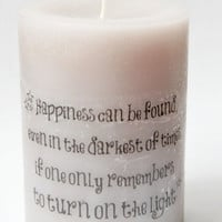 Harry Potter Quote Candle, Your Favorite Harry Potter Quote on a Candle, Harry Potter Home Decor