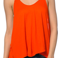 Obey Alija Orange High Low Tank Top