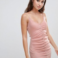 Missguided glitter ruched bodycon dress at asos.com