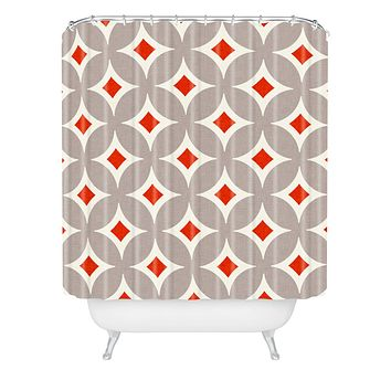Holli Zollinger Vermillion Diamond Shower Curtain