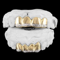 Custom 10k Gold diamond Cut Men's Grillz