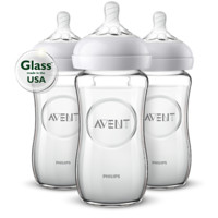 Buy the Avent Avent Natural glass baby bottle SCF703/37 Natural glass baby bottle