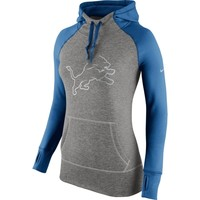 Detroit Lions Nike Women's Platinum All Time Performance Hoodie – Charcoal