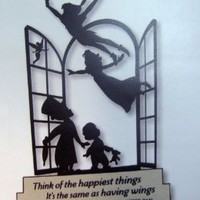 Hallmark Disney DYG9646 Peter Pan And Tinker Bell Silhouette
