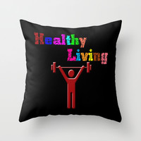Healthy living Throw Pillow by Gbcimages