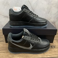 Morechoice Tuhz Nike Air Force 1 Low Grey Swoosh Sneakers Casual Skaet Shoes Cd0888-001