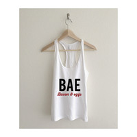 Bae Bacon and Eggs Fine Jersey Racerback Tank Top