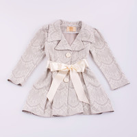 Mia Belle Baby Silver Scallop Pleated Jacket - Girls   Something special every day