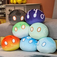 """Genshin Slime Monster Plush Toy Plushie Stuffed Doll Soft Pillow Cosplay Props for Game Fans 3.9"""" Keychain"""