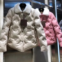 Top Gift New 2020 LV women Men winter down coat fashion waist-controlled Hooded Fur Collar Warm Women winter Jacket Casual Parkas womens coat Jacket Coat