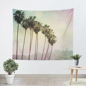 Row of Palm Trees Tapestry