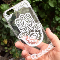 Hasma Hand Clear iPhone Case