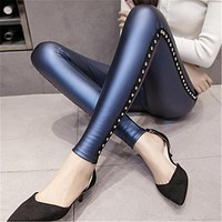 Patent Leather Stretchable Skinny Pants