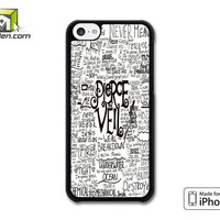 Pierce The Veil Song Lyric iPhone 5c Case Cover by Avallen