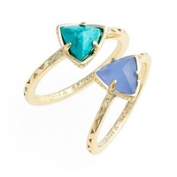 Women's Kendra Scott 'Anna' Triangle Rings (Set of 2)
