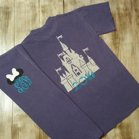 Castle Disney T-shirt - Minnie or Mickey Ears Monogram