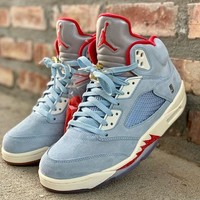Trophy Room x Air Jordan 5 JSP Pack Ice Blue - Best Deal Online