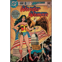 Wonder Woman Patriotic Comic Cover Giant Wall Decal