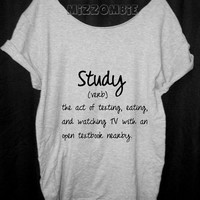COLLEGE LIFE Tshirt, Off The Shoulder, Over sized,   loose fitting, graphic tee, screen printed by hand, women's, teens.