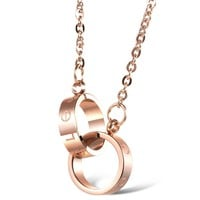 BeadyBoutique Love Necklace - Rose Gold