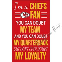 I am a chiefs fan flag with 3x5ft polyester banner flag Kansas City Chiefs banner