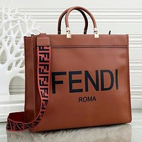 FENDI Women Fashion Leather Handbag Tote Crossbody Bag