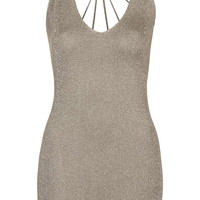 **Late Night Knitted Dress With Strappy Back by WYLDR - Going Out - Clothing