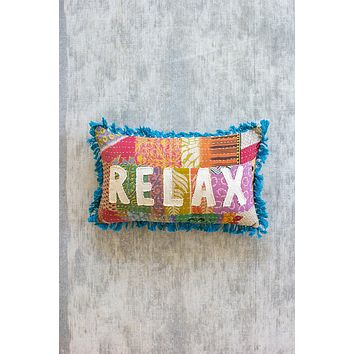 Relax - Kantha Pillow