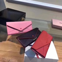 MIU MIU WOMEN'S NEW STYLE LEATHER WALLET