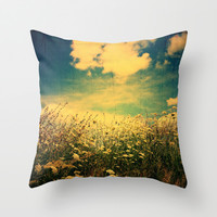 Counting Flowers Like Stars - Color Version Throw Pillow by Olivia Joy StClaire