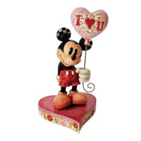 Disney Traditions by Jim Shore Mickey with Heart Balloon Figurine, 8-Inch