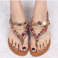 New style Fashion Diamond bohemian Sandals Shoes
