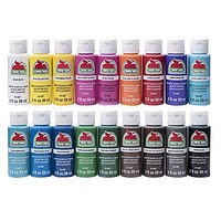 Apple Barrel Acrylic Paint Set, 18 Piece (2-Ounce), PROMOABI Assorted Colors